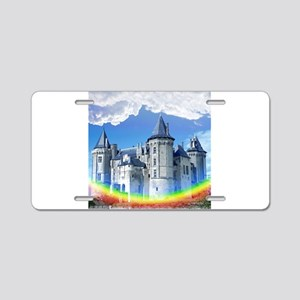 Castle In The Clouds Aluminum License Plate