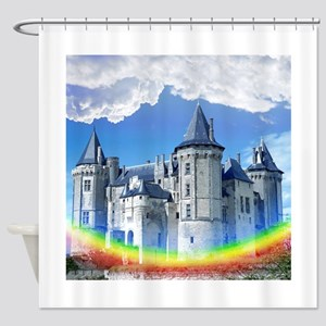 Castle In The Clouds Shower Curtain