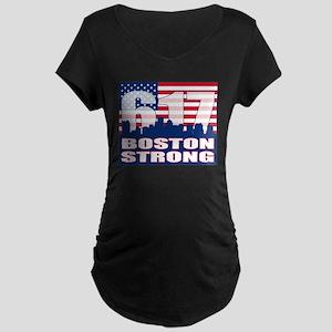 Boston Strong Maternity Dark T-Shirt