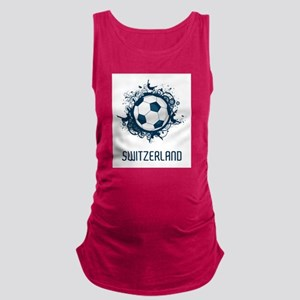 Switzerland Football Maternity Tank Top