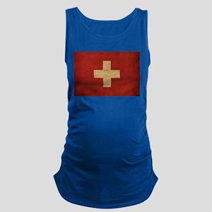 Vintage Switzerland Flag Maternity Tank Top