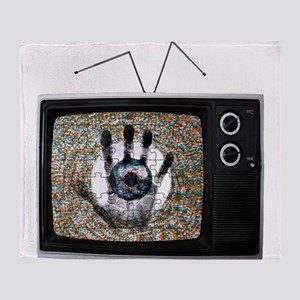 Touched Television Throw Blanket