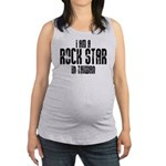 Rock Star In Taiwan Maternity Tank Top