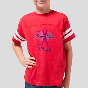 2-angel stepmom Youth Football Shirt