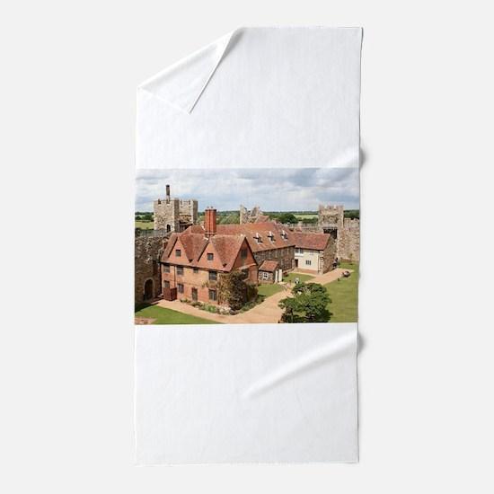 Framlingham Castle, Suffolk, England Beach Towel