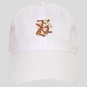 Bacon and Eggs Pattern Baseball Cap