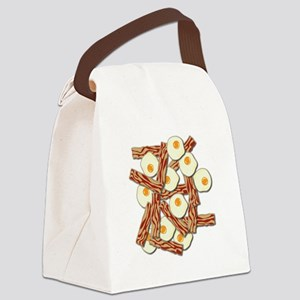 Bacon and Eggs Pattern Canvas Lunch Bag