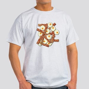 Bacon and Eggs Pattern T-Shirt