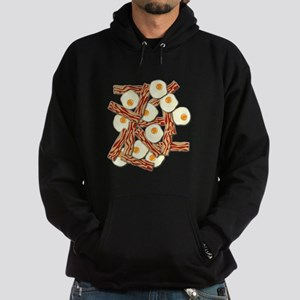 Bacon and Eggs Pattern Hoodie