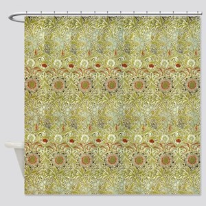 Corncockle design by William Morris Shower Curtain