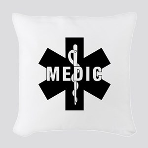 Medic EMS Star of L... Woven Throw Pillow