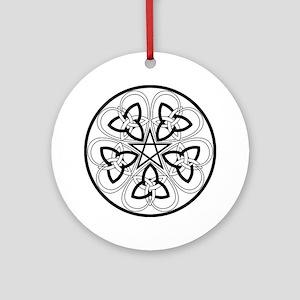 Celtic Heart Pentacle2 Ornament (Round)