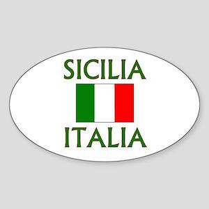 Sicilia, Italia Oval Sticker