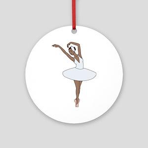 Ballet Dancing Ornament (Round)