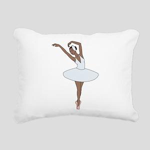 Ballet Dancing Rectangular Canvas Pillow
