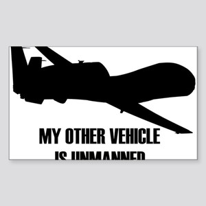 my other vehicle is unmanned Sticker