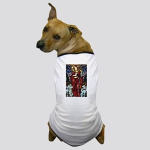 Jesus and Lambs Stained Glass Dog T-Shirt