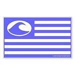 Surf Nation Blue Rectangle Sticker