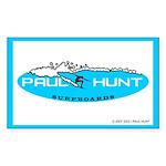 Paul Hunt Surfboards Rectangle Sticker