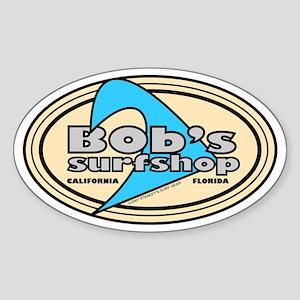 Bob's Surfshop Oval Sticker