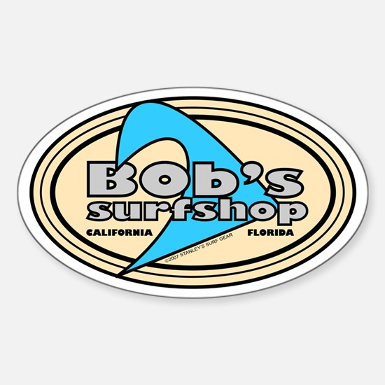 Bob's Surfshop Oval Decal