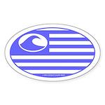 Surf Nation Oval Sticker