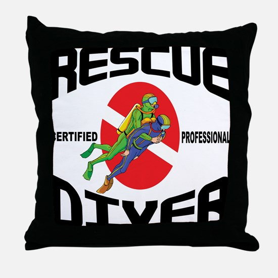 Rescue SCUBA Diver Throw Pillow