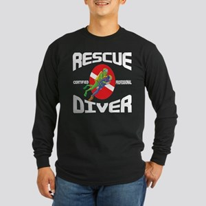 Rescue SCUBA Diver Long Sleeve Dark T-Shirt