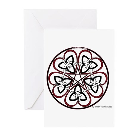 Celtic Heart Pentacle3 Greeting Cards (Package of