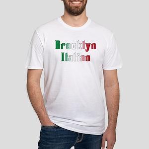 Brooklyn New York Italian Fitted T-Shirt