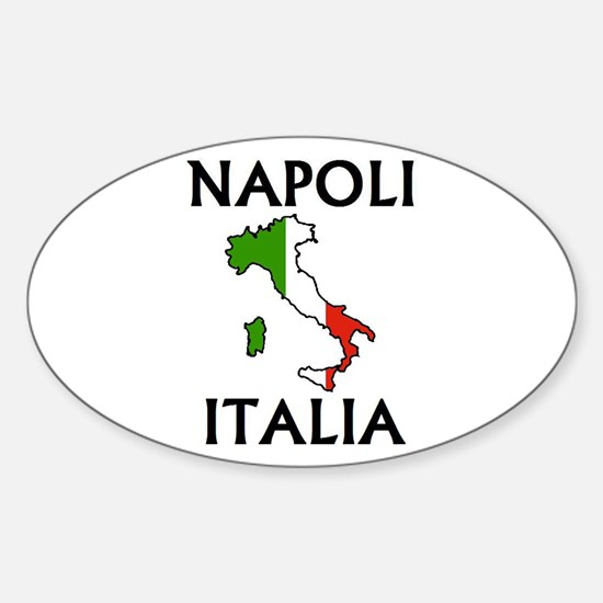 Napoli, Italia Oval Decal