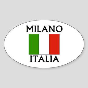 Milano, Italia Oval Sticker