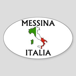 Messina, Italia Oval Sticker