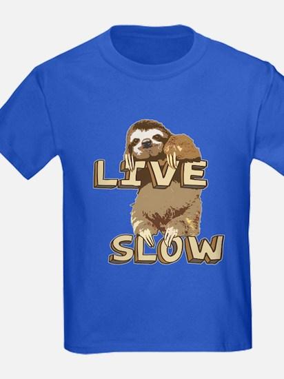 Funny Sloth - LIVE SLOW T-Shirt