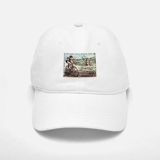 1963 Monaco Racing Cyclist Postage Stamp Baseball