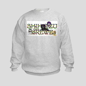 Shih Tzu Mardi Gras Krewe Kids Sweatshirt