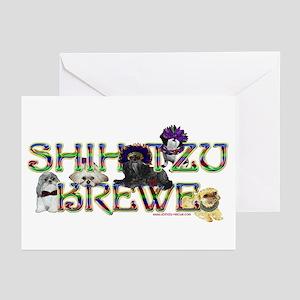 Shih Tzu Mardi Gras Krewe Greeting Cards (Package