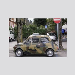 Mini FIAT in camouflage Rectangle Magnet