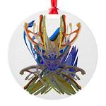 Wishbones Round Ornament