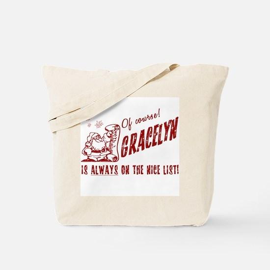 Nice List Gracelyn Christmas Tote Bag