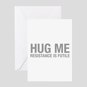 hug-me-HEL-GRAY Greeting Card