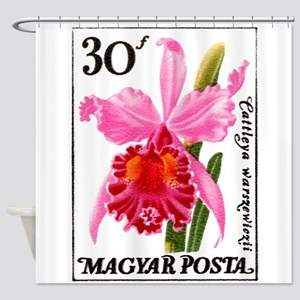 Vintage 1965 Hungary Cattleya Orchid Postage Stamp