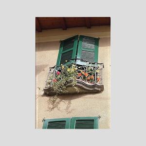 Flowers on Balcony Rectangle Magnet