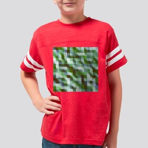 clockbluegreencheckadjustedth Youth Football Shirt