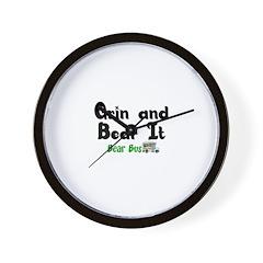Grin N Bear It Wall Clock