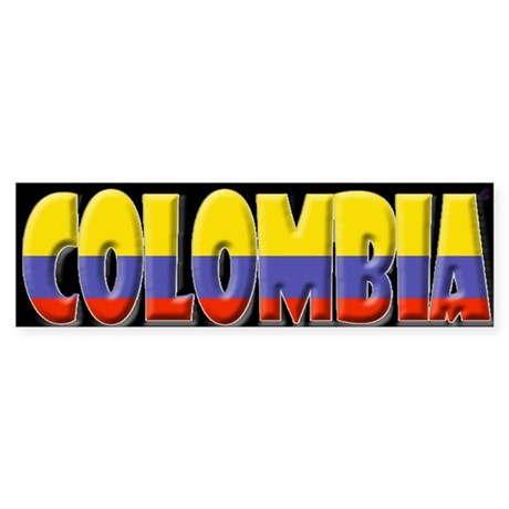 Word Art Flag of Colombia Bumper Sticker