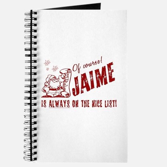 Nice List Jaime Christmas Journal