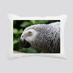 African Grey Parrot Rectangular Canvas Pillow