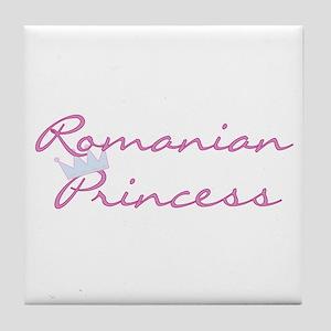 Romanian Princess Tile Coaster
