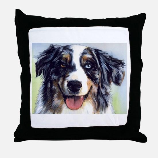 Cute Australian shepherd Throw Pillow